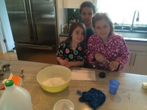 Kitchen kids!  Guacamole!